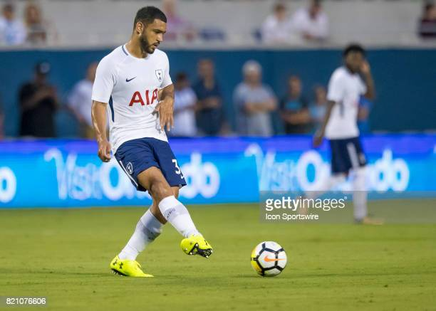 Tottenham Hotspur defender Cameron CarterVickers passes the ball during the International Champions Cup match between Tottenham Hotspur and Paris St...