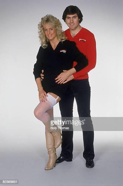 Tottenham Hotspur defender Paul Miller with Tessa Hewitt circa 1980 Both are wearing sweaters from Miller's signature sportswear range