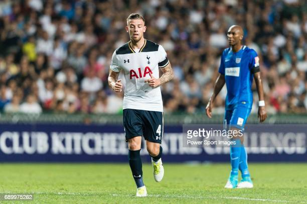 Tottenham Hotspur Defender Toby Alderweireld in action during the Friendly match between Kitchee SC and Tottenham Hotspur FC at Hong Kong Stadium on...