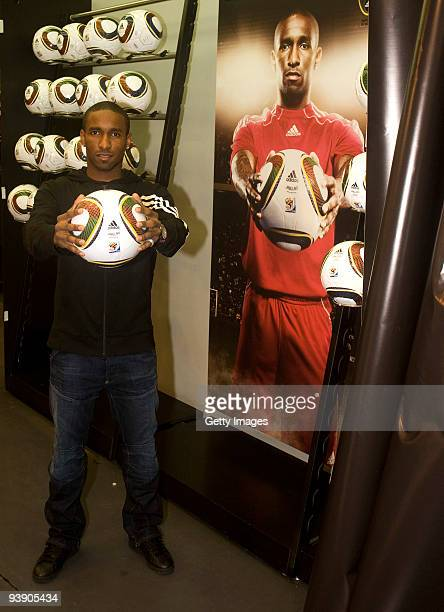 Tottenham Hotspur England Striker Jermain Defoe Watches the FIFA2010 World Cup Draw Undertakes a Signing Session of the New Official World Cup Match...