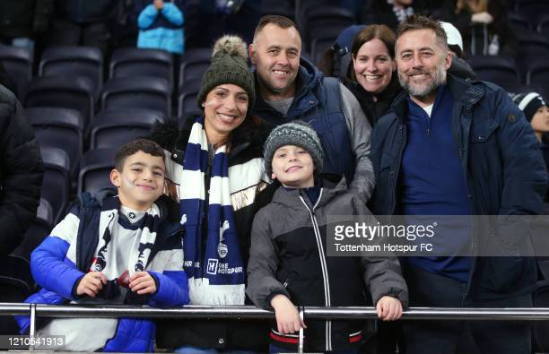 Tottenham Hotspur fans during the FA Cup Fifth Round match between Tottenham Hotspur and Norwich City at Tottenham Hotspur Stadium on March 04 2020...
