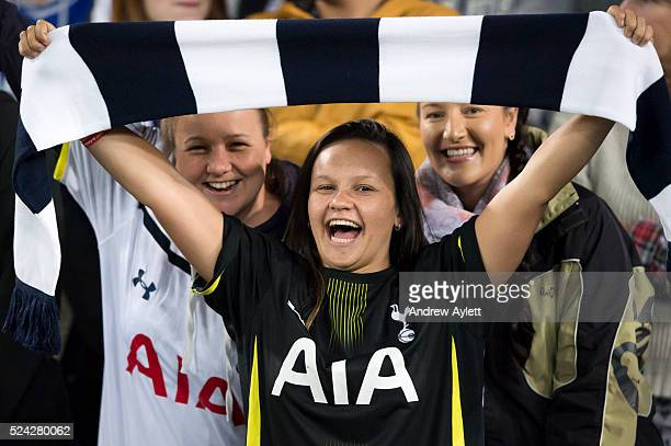 Tottenham Hotspur fans during the friendly match between Sydney FC and the Tottenham Hotspur at ANZ stadium in Sydney NSW Australia 30th May 2015...