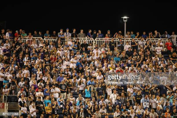 Tottenham Hotspur fans during the International Champions Cup match between Paris SaintGermain and Tottenham Hotspur on July 22 2017 in Orlando...