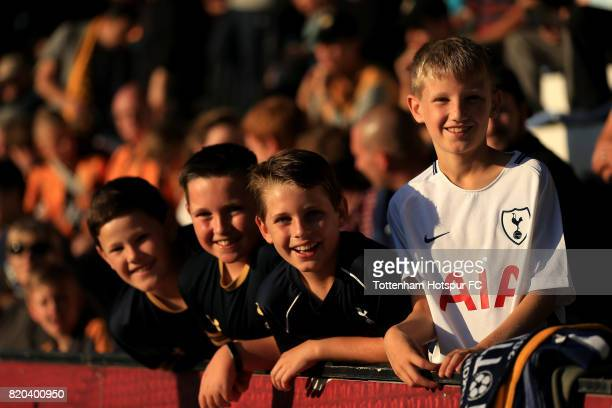 Tottenham Hotspur fans during the pre season friendly match between Cambridge United and Tottenham U23 at Cambs Glass Stadium on July 21, 2017 in...