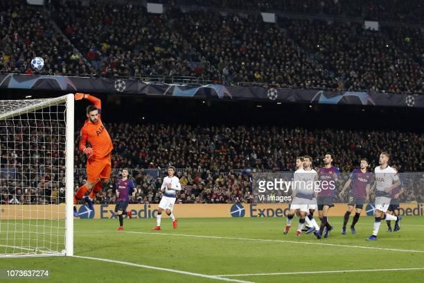 Tottenham Hotspur FC goalkeeper Hugo Lloris Thomas Vermaelen of FC Barcelona Dele Alli of Tottenham Hotspur FC Jan Vertonghen of Tottenham Hotspur FC...