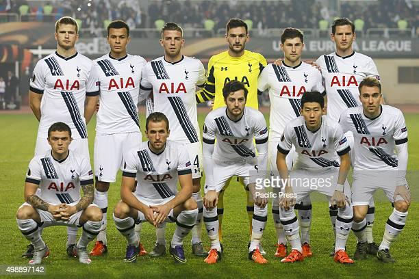 Tottenham Hotspur FC team before the UEFA Europe League match between Qarabag FK and Tottenham Hotspur FC at Tofig Bahramov Republican stadium