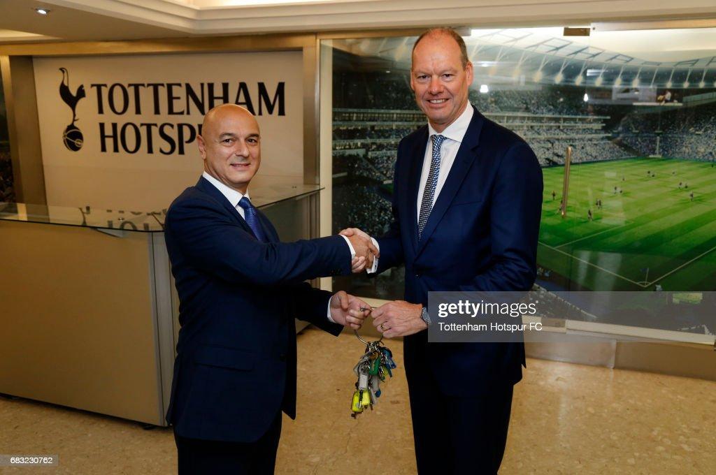 Tottenham Hotspur Chairman Daniel Levy Hands Over the Keys to White Hart Lane to Mace