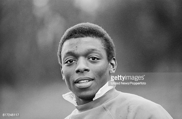 Tottenham Hotspur footballer Garth Crooks pictured at a Spurs training session in London on 10th March 1982