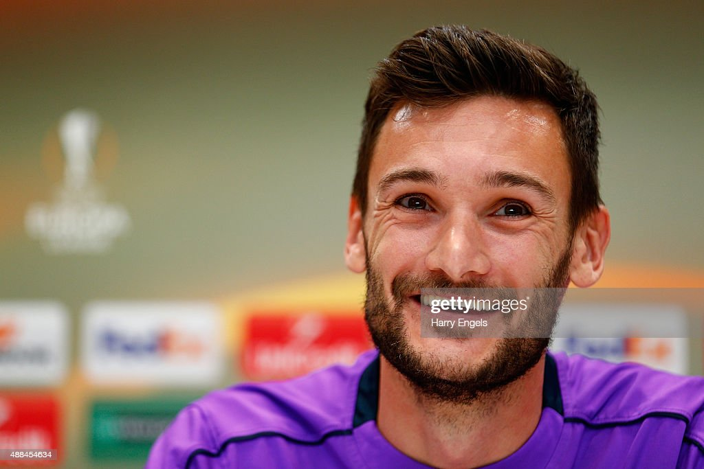 Tottenham Hotspur goalkeeper Hugo Lloris speaks during a press conference at the Tottenham Hotspur training ground on September 16, 2015 in Enfield, England.