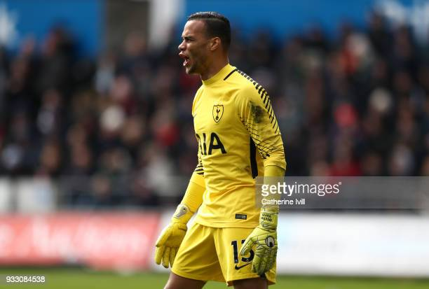 Tottenham Hotspur goalkeeper Michel Vorm during The Emirates FA Cup Quarter Final match between Swansea City and Tottenham Hotspur at Liberty Stadium...