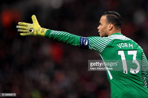 Tottenham Hotspur goalkeeper Michel Vorm during the FA Cup Fourth Round replay between Tottenham Hotspur and Newport County at Wembley Stadium on...
