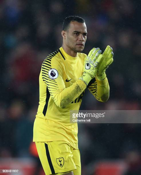 Tottenham Hotspur goalkeeper Michel Vorm during the Premier League match between Southampton and Tottenham Hotspur at St Mary's Stadium on January 21...