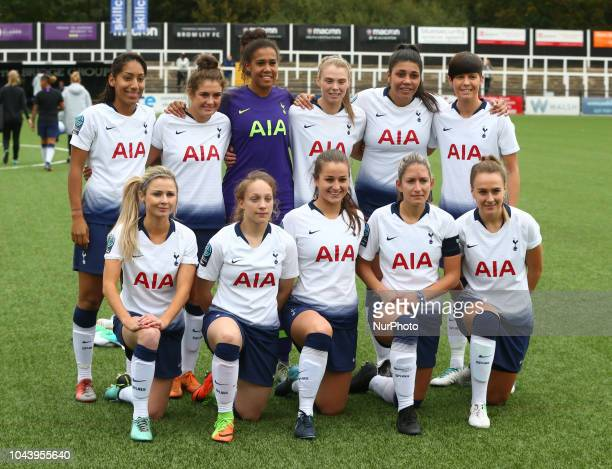Tottenham Hotspur Ladies Team during Women's Super League Two match between Crystal Palace Ladies FC and Tottenham Hotspur Ladies at H2T Group...