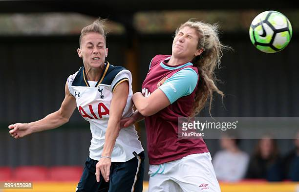 LR Tottenham Hotspur LFC Mikita Whinnett and West Ham United Ladies Hannah Wheeler during FA Women's Premier League Cup Preliminary Round match...