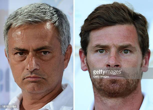 COMPOSITE OF TWO IMAGES Image Numbers 173766738 and 174029218 In this digital composite a comparison has been made between Jose Mourinho Manager of...