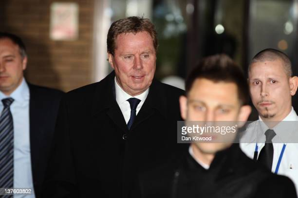 Tottenham Hotspur manager Harry Redknapp leaves Southwark Crown court on January 23 2012 in London England Mr Redknapp is faces charges of Tax...