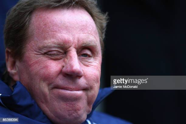Tottenham Hotspur Manager Harry Redknapp winks prior to the Barclays Premier League match between Sunderland and Tottenham Hotspur at The Stadium of...