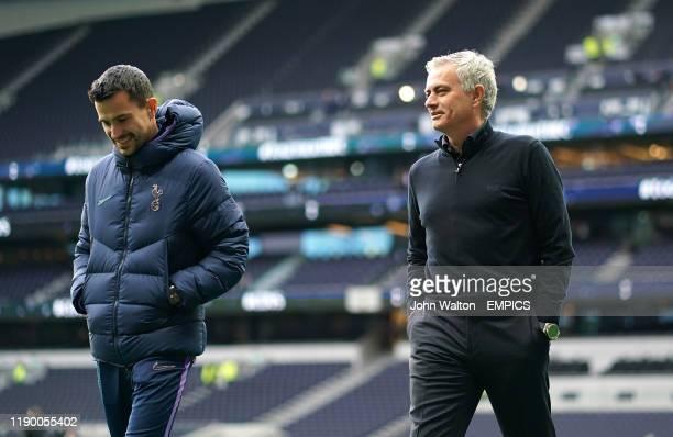 Tottenham Hotspur manager Jose Mourinho with assistant Joao Sacramento before the game Tottenham Hotspur v Chelsea Premier League Tottenham Hotspur...
