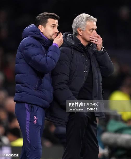 Tottenham Hotspur manager Jose Mourinho with assistant Joao Sacramento on the touchline Tottenham Hotspur v Chelsea Premier League Tottenham Hotspur...