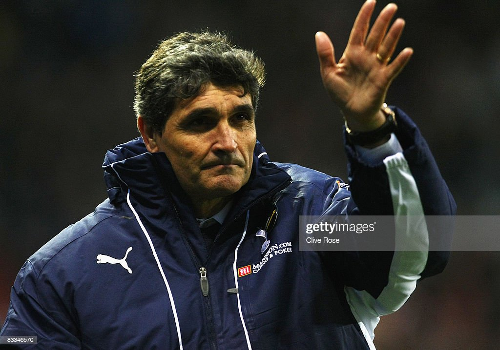 Tottenham Hotspur Manager Juande Ramos waves after the Barclays Premier League match between Stoke City and Tottenham Hotspur at the Brittania Stadium on October 19, 2008 in Stoke, England.