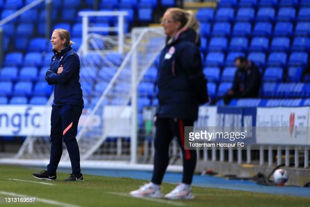 Tottenham Hotspur Manager Rehanne Skinner during the Vitality Women's FA Cup Fourth Round match between Reading Women and Tottenham Hotspur Women at...