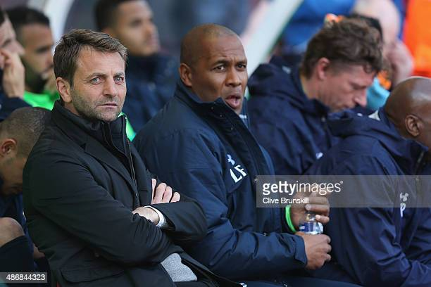 Tottenham Hotspur manager Tim Sherwood during the Barclays Premier League match between Stoke City and Tottenham Hotspur at the Britannia Stadium on...