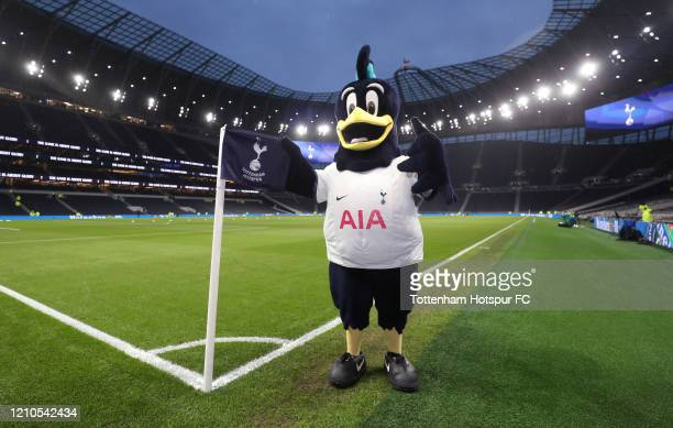 Tottenham Hotspur mascot Chirpy during the FA Cup Fifth Round match between Tottenham Hotspur and Norwich City at Tottenham Hotspur Stadium on March...