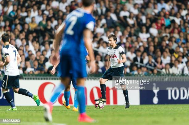 Tottenham Hotspur Midfielder Filip Lesniak in action during the Friendly match between Kitchee SC and Tottenham Hotspur FC at Hong Kong Stadium on...