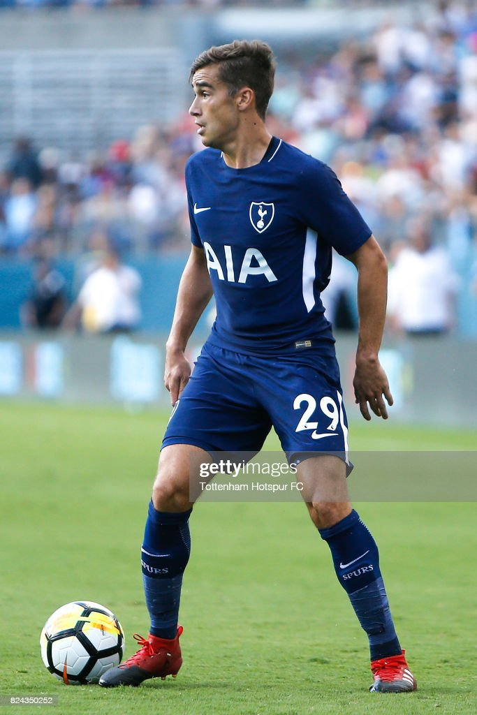 Tottenham Hotspur midfielder Harry Winks #29 in action against Manchester City during the International Champions Cup 2017 at Nissan Stadium on July 29, 2017 in Nashville, Tennessee.