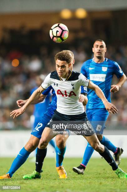 Tottenham Hotspur midfielder Luke Amos in action during the Friendly match between Kitchee SC and Tottenham Hotspur FC at Hong Kong Stadium on May 26...