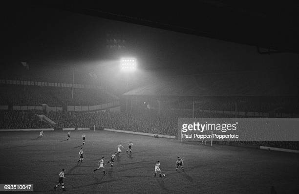 Tottenham Hotspur play a friendly match against the Racing Club de Paris in the first floodlit match at Spurs' White Hart Lane ground London 29th...