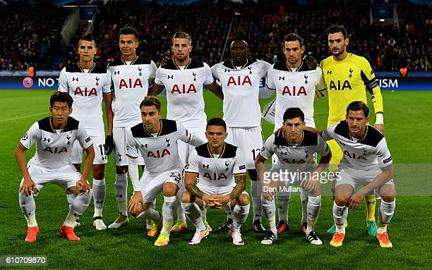 Tottenham Hotspur players line up prior to the UEFA Champions League Group E match between PFC CSKA Moskva and Tottenham Hotspur FC at Stadion CSKA...