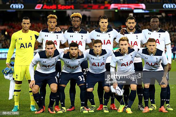 Tottenham Hotspur players pose for the team photo prior to the 2016 International Champions Cup Australia match between Tottenham Hotspur and...