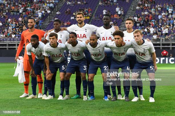 Tottenham Hotspur pose for a photo prior to their International Champions Cup 2018 match against AC Milan at US Bank Stadium on July 31 2018 in...
