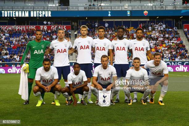Tottenham Hotspur poses for a team photo prior to the start of the match against Roma during the International Champions Cup 2017 at Red Bull Arena...