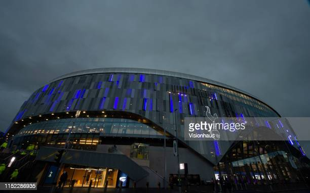 Tottenham Hotspur Stadium on April 03, 2019 in London, England.