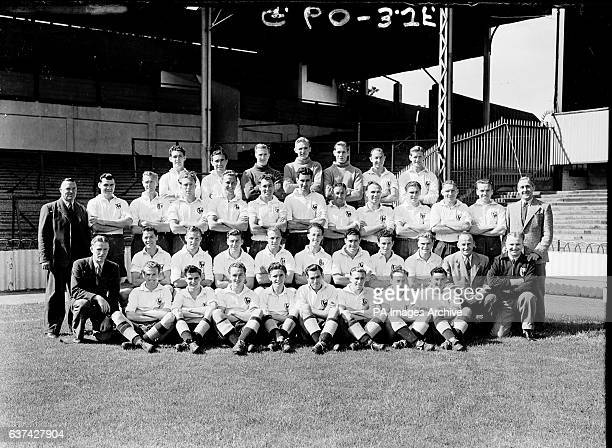 Billy Rees Alf Ramsey Stan Hayhurst Stan Markham Ted Ditchburn Ron Burgess Les Bennett assistant manager J Anderson Len Duquemin Vic Buckingham Harry...