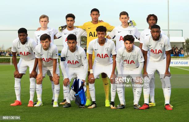 Tottenham Hotspur team group during the UEFA Youth League group H match between Tottenham Hotspur and Real Madrid at the Tottenham Hotspur Training...
