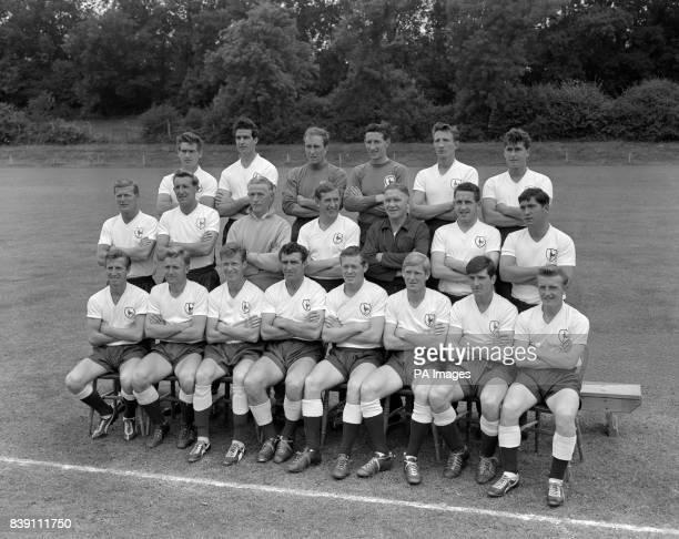 Tottenham Hotspur Team Group Ron Henry Maurice Norman John Hollowbread Bill Brown Mel Hopkins and Kenneth Barton Peter Baker Tony Marchi Cecil...