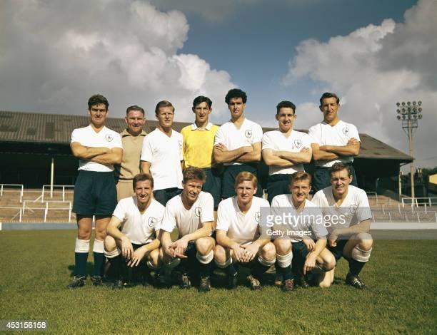 Tottenham Hotspur team line up circa 1961/62 season including mananger Bill Nicholson Maurice Norman Dave MacKay Bill Brown Cliff Jones John White...