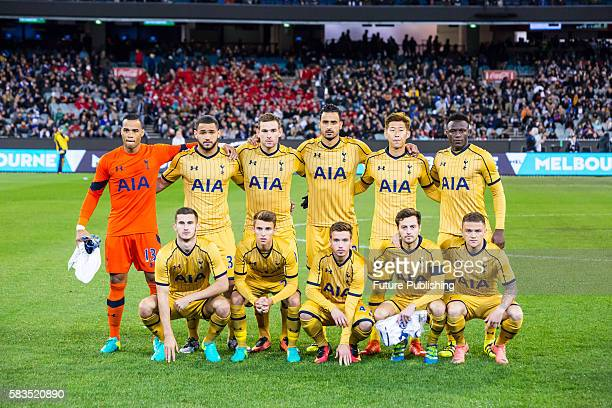 Tottenham Hotspur team photo before playing Juventus in Match 2 of the International Champions Cup 2016 on July 26 2016 in Melbourne Australia Chris...