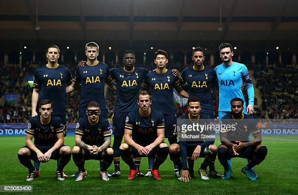 Tottenham Hotspur team pose for a photo during the UEFA Champions League Group E match between AS Monaco FC and Tottenham Hotspur FC at Louis II...