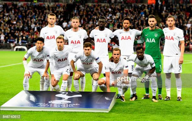 Tottenham Hotspur Team shoot during Champion League Group H match between Tottenham Hotspur against Borussia Dortmund at Wembley stadium London UK on...