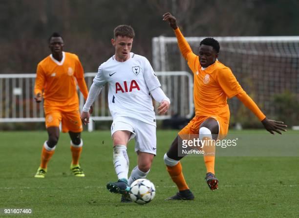 Tottenham Hotspur U19s Jamie Reynolds during UEFA Youth League Quarter Final match between Tottenham Hotspur U19s and FC Porto U19s at Tottenham...