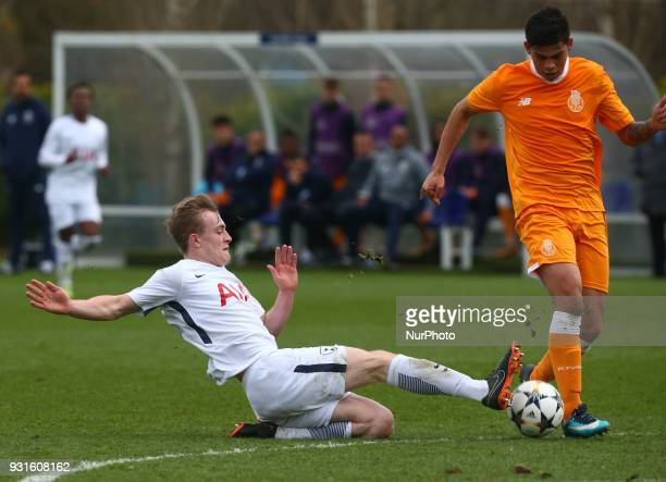 Tottenham Hotspur U19s Oliver Skipp during UEFA Youth League Quarter Final match between Tottenham Hotspur U19s and FC Porto U19s at Tottenham...