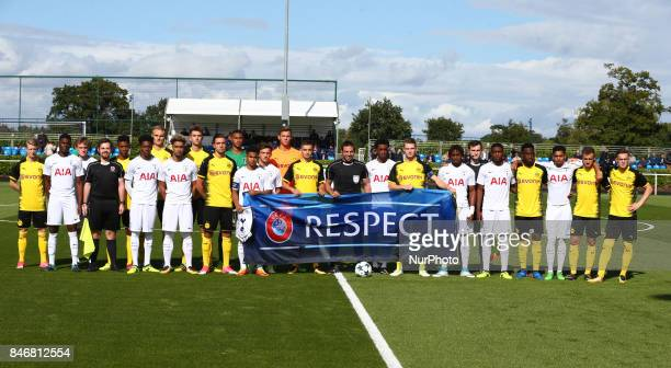 Tottenham Hotspur Under 19s and Borussia Dortmund Under Team Shoot during UEFA Youth Cup match between Tottenham Hotspur Under 19s against Borussia...