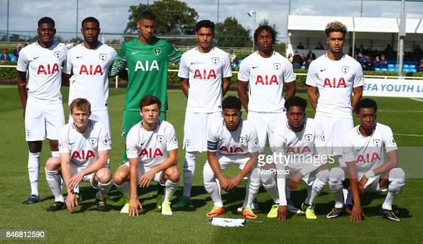 Tottenham Hotspur Under 19s Team Shoot during UEFA Youth Cup match between Tottenham Hotspur Under 19s against Borussia Dortmund Under 19s at Hotspur...