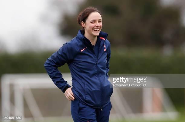 Tottenham Hotspur Women coach Lauren Smith during the Tottenham Hotspur Women training session at Tottenham Hotspur Training Centre on February 25,...