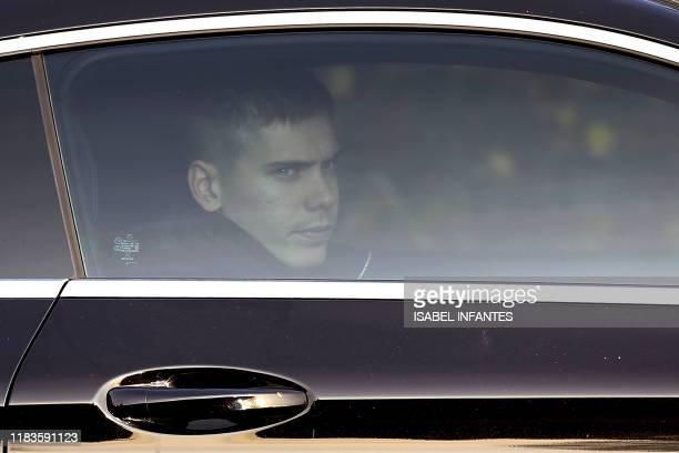 Tottenham Hotspur's Argentinian defender Juan Foyth arrives at Tottenham Hotspur's Enfield Training Centre in north London on November 20 2019 Jose...
