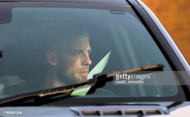 Tottenham Hotspur's Belgian defender Toby Alderweireld arrives at Tottenham Hotspur's Enfield Training Centre in north London on November 20 2019...